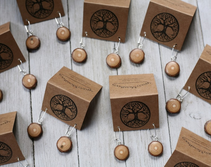 Small Wood Earrings in Sassafras