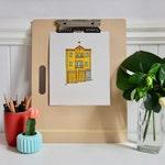 "Custom Home or Building Illustration (8x10"")"