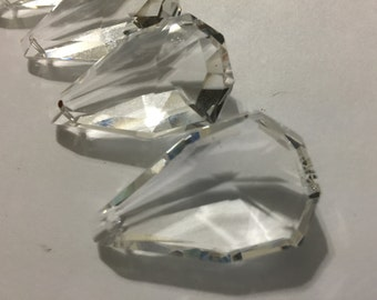 NEW  5-38mm Chandelier Crystals Glass Prisms - 38mm Faceted  Prisms (S-14)
