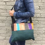Handcrafted bag, eco friendly handbag, vegan bag, recycled handbag, messenger bag, unique handbag