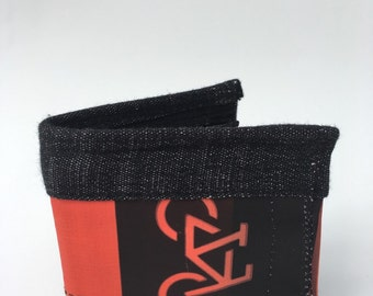 Bi Fold wallet, zipper wallet, mens bi fold wallet