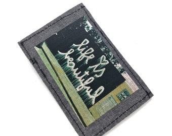 Slim wallet, thin wallets, mini wallet, credit card holder, business card holder, front pocket wallet , vegan wallet, art wallet