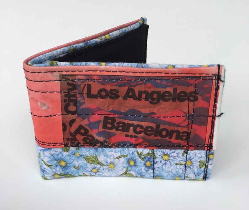 Handcrafted wallet bi fold wallet image 0
