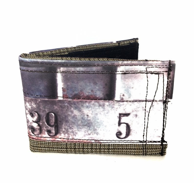 Bifold wallet handmade wallet recycled wallet fabric image 0