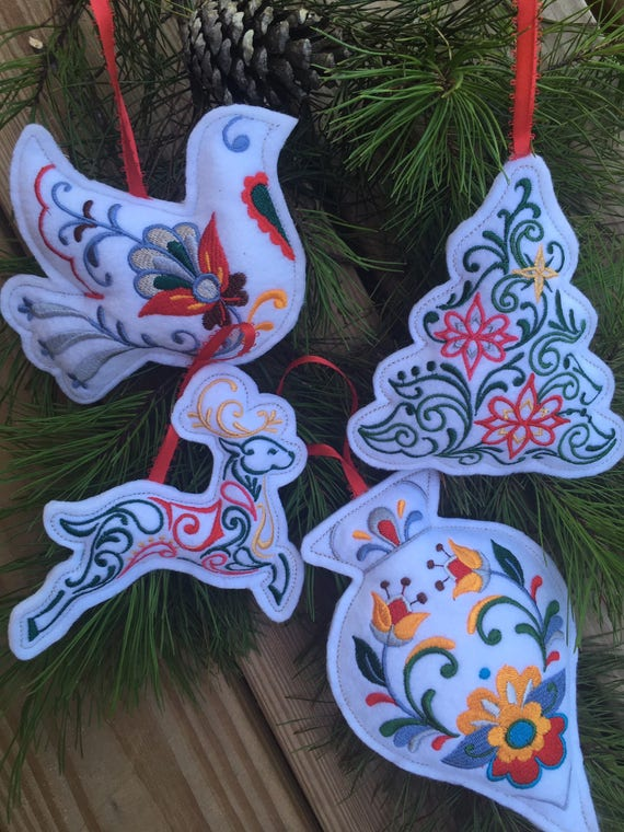 Stuffed Christmas Ornaments - Embroidered Ornaments - Felt Ornaments -  Embroidered Felt Ornaments - Stuffed Christmas Ornaments Embroidered Ornaments Felt Etsy