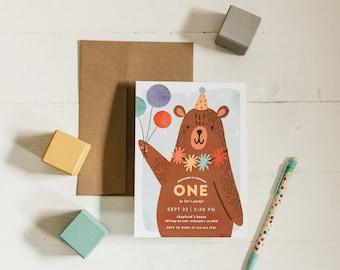 Party Bear Invitations