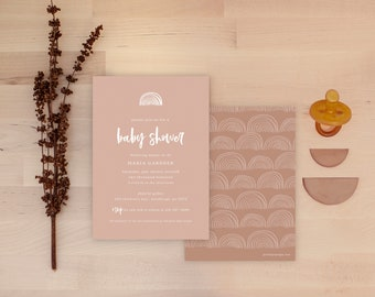 Rainbow Baby Shower Invitations - Desert