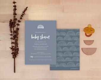 Rainbow Baby Shower Invitations - Haze