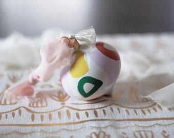 Hand-painted Ceramic Tassel Ornament
