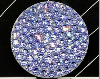 White Popsocket made with Lavender Swarovski Crystals
