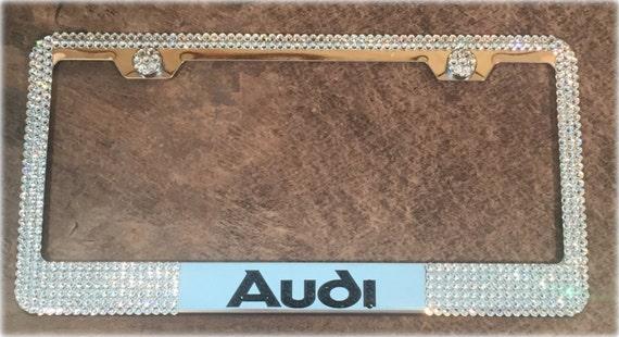 Audi License Plate Frame Made With Swarovski Crystals Audi Etsy - Audi license plate frame