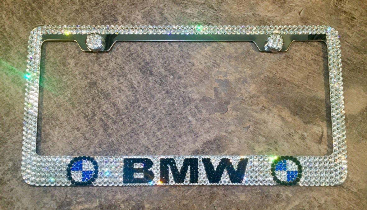 BMW Nummernschild Rahmen mit Swarovski Crystals - BMW-Auto-Schmuck