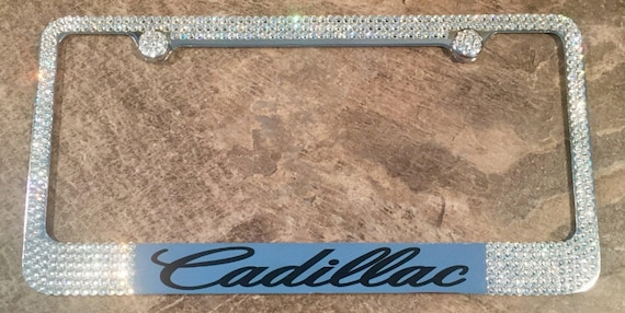 Cadillac License Plate Frame made with Swarovski Crystals