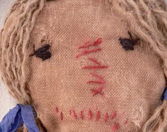 Extreme Primitive Rag Doll, Extreme Primitive, Home Decor, Rag Doll, Prim Rag Doll, Prim Decor, Extreme Primitives, Handmade, HAFAIR