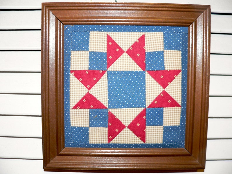 Primitive Hand Quilted Wall Decor Quilting Home Decor image 0