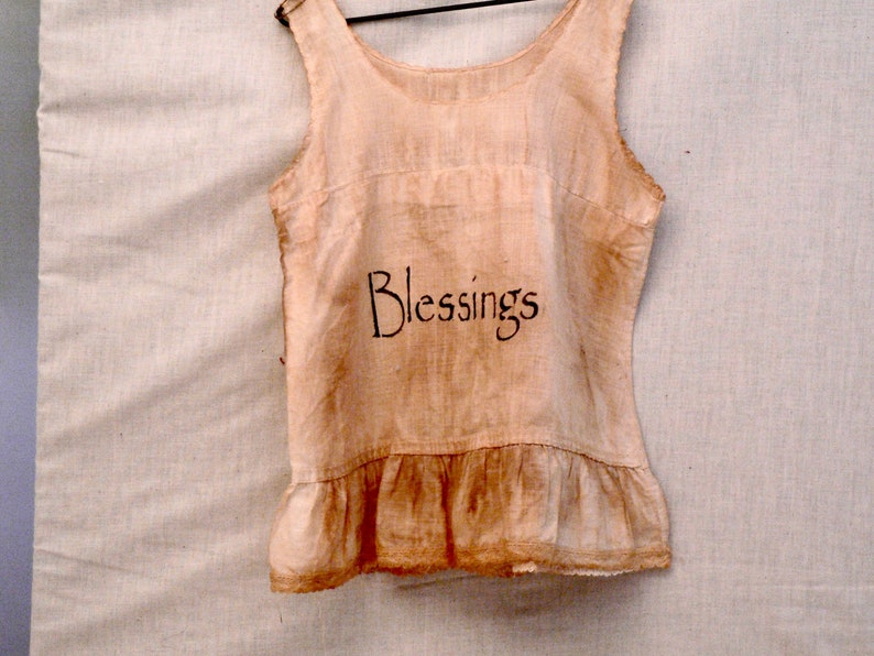 Vintage Blessings Wall Hanging Primitives Prim Wall Hanging image 0