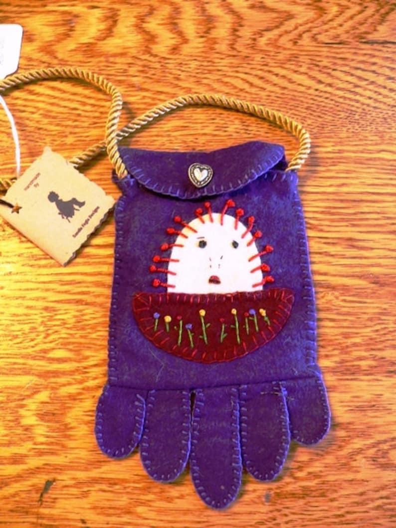 Purse Wool Purse Cell Phone HolderRaggedy Ann Purple image 0