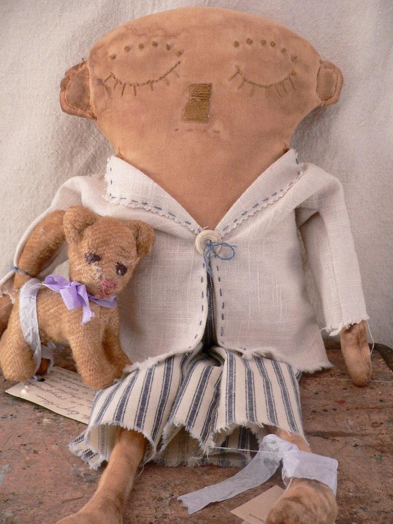 Primitive Boy Doll. Prim Boy Doll Little Boy BluePrim image 0