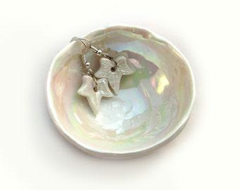 Porcelain Small Bowl - Pearl Wedding Anniversary Gift - Pottery Anniversary Gift - Small Ceramic Bowl  - Earring Bowl - Earring Dish