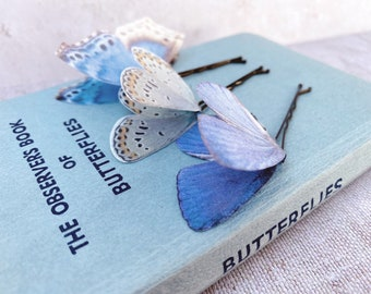 Something Blue Butterfly Hair Pins