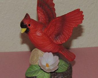 Red Cardinal Porcelain Figurine