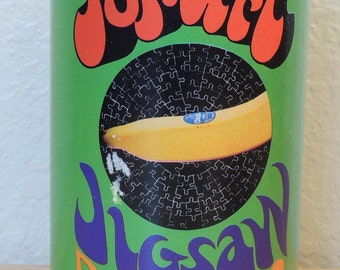 1968 POP ART Jigsaw Puzzle in a Can Chiquita Banana COMPLETE