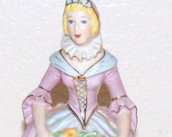 Lovely Pastel 17th Century style Lady Figurine