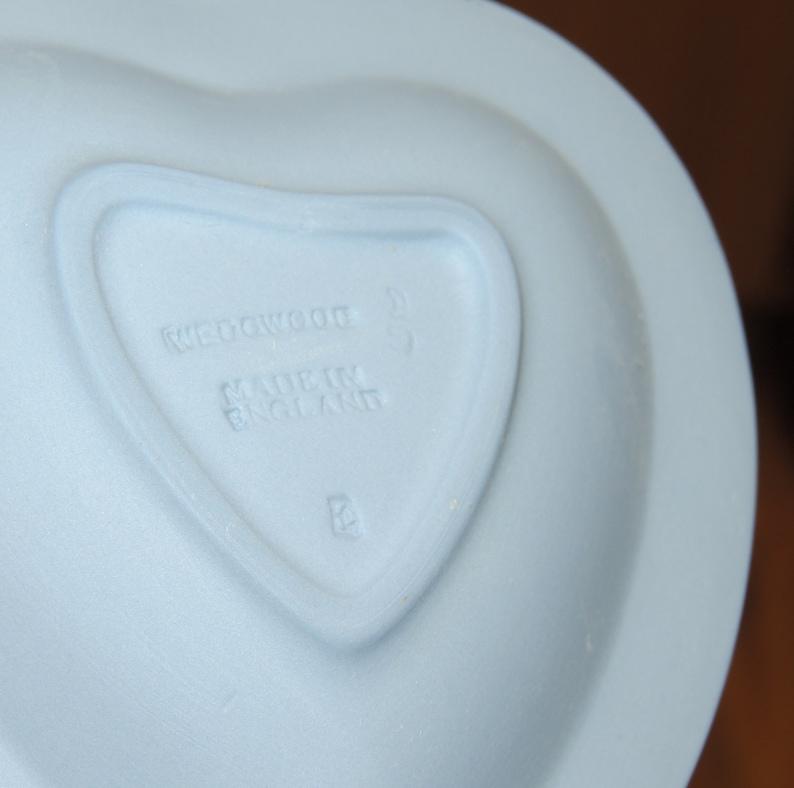 Wedgwood Blue Heart Trinket Dish