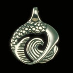 Mermaid Pendant  - Yoga Backbend Pose, Symbolic Jewelry, Necklace - Nature Collection