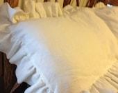 Soft Washed Linen Sham for King Size Bed