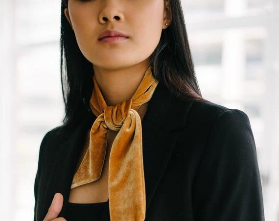 Velvet Skinny Scarf/Headband/Hair Tie/Ponytail Tie/Gift for Her
