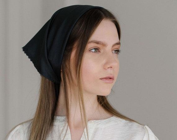 Silk Bandana, Silk Hair Scarf, Kerchief