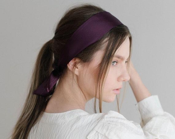 Silk Hair Scarf/Silk Headband/Skinny Scarf