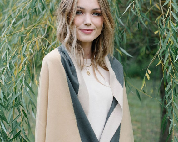 Camel Wool Blanket Scarf/Wrap/Shawl