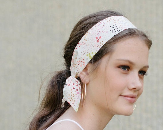 Floral Hair Scarf/Scarf Headband/Soft Headband
