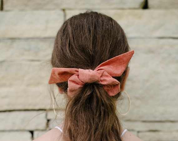 Cotton Scrunchie/Hair Tie/Top Knot/Hair Elastic/Bunny Ears/Gift for Her