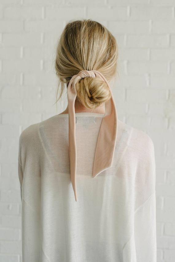 Velvet Skinny Scarf/Short Neck Scarf/Headband/Ponytail Tie/Gift for Her