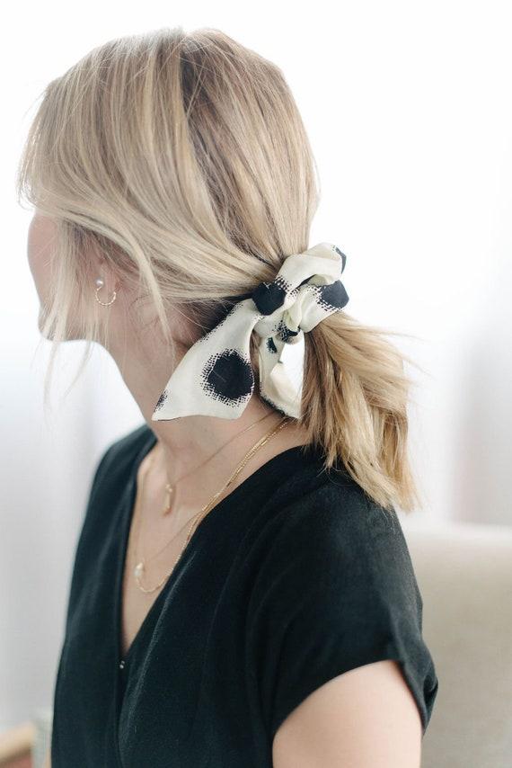 Polka Dot Scrunchie/Pony Scarf/Hair Tie/Bow