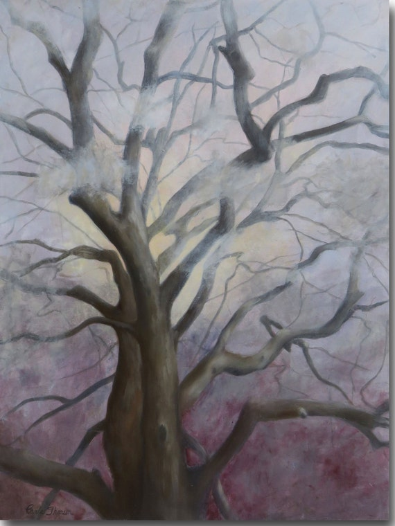 PRINT of Atmospheric Tree Landscape