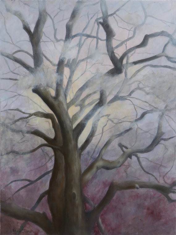 "Branches II  ""Haunting""  18x24""   Oil & Cold Wax on Panel"