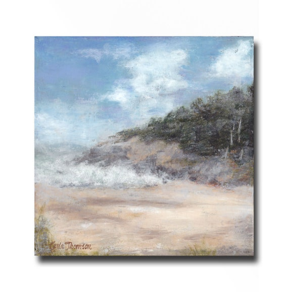 """Surf  8x 8"""" oil & cold wax on canvas"""