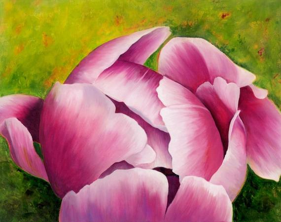 """""""Peony Bud"""" 16 x 20 - Oil on Canvas"""