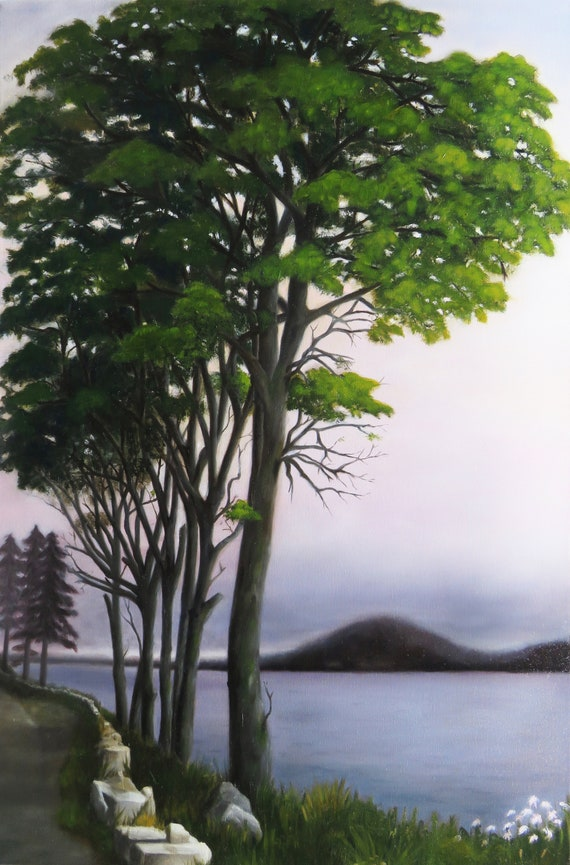 "Maine Trees  24 x 36""  Oil on Canvas"