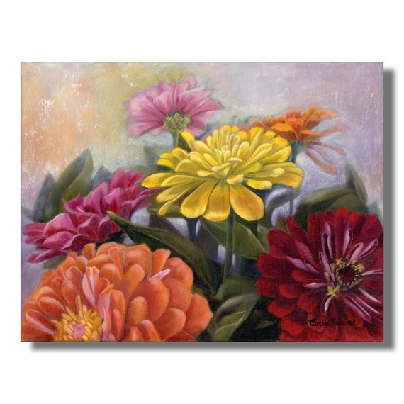 Art PRINT of Zinnia Bouquet