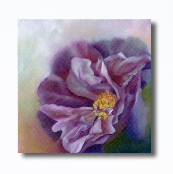 Art  PRINT of Original Oil Painting of Purple & Pink Rose for Nursery, Home or Office Decor