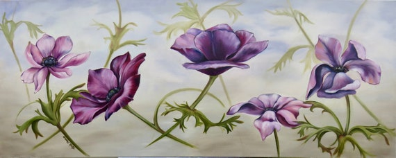 "Spring Dance 16x40"" Oil on Canvas"