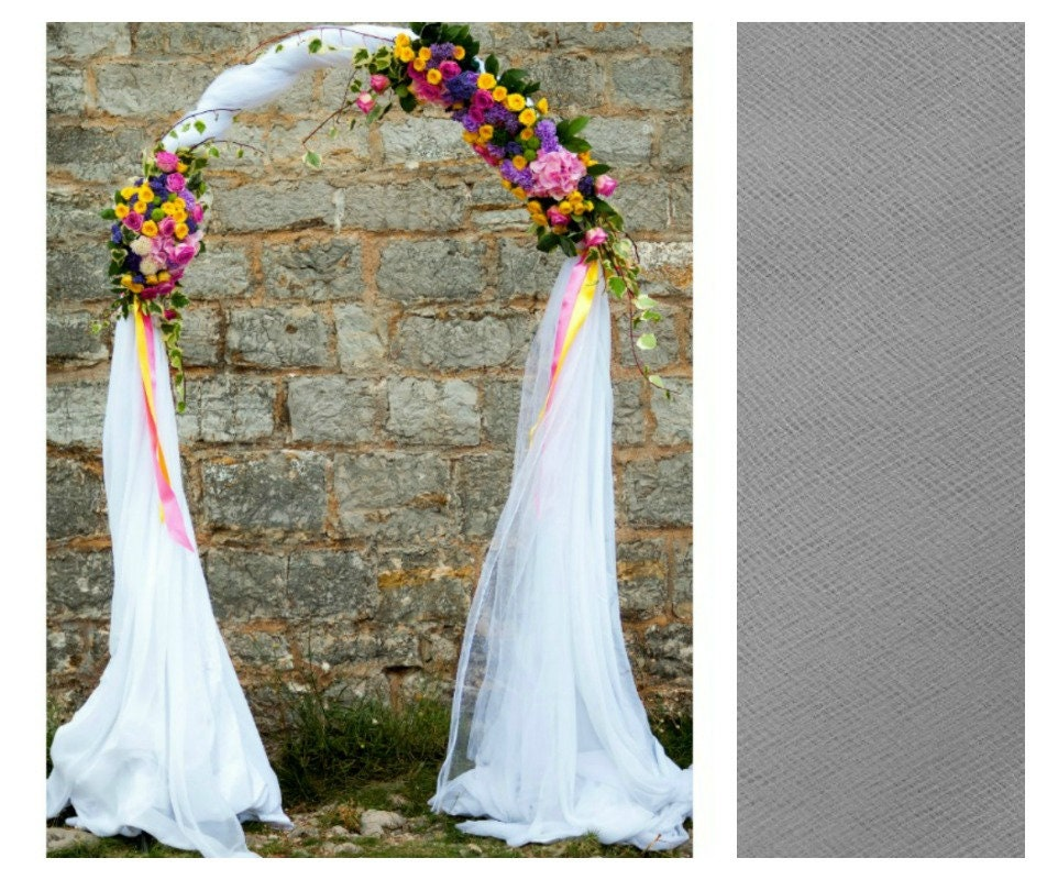 Diy Wedding Arch With Tulle: Wedding Arch Scarf Tulle Wholesale Indoor Or Outdoor White