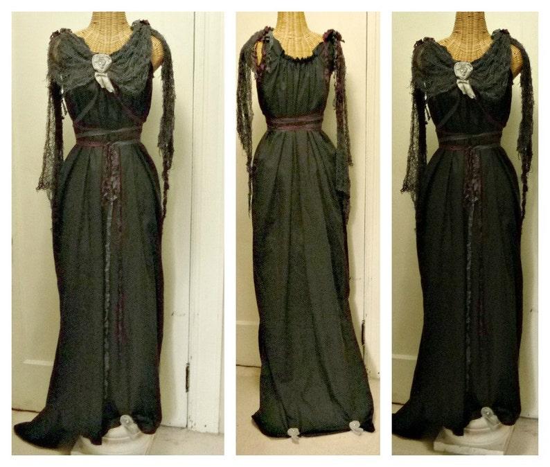4b59327b6704 Dark Brew Maxi Dress Custom Black Gothic Scary Day of The Dead | Etsy