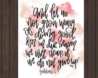 Galatians 6:9 Digital Scripture print