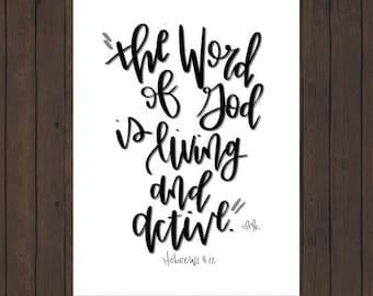 The Word Digital Scripture Print